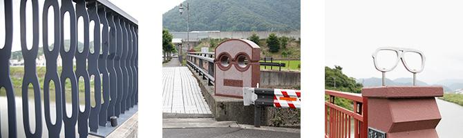 (左から順に)三六橋、あなだがわの橋、浅乃川の橋